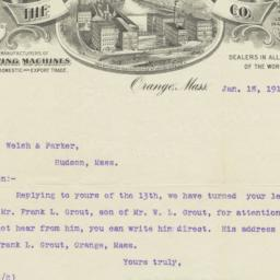 New Home Machine Co.. Letter