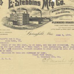 E. Stebbings Mfg. Co.. Bill