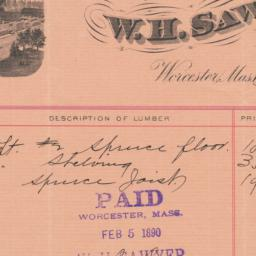 W. H. Sawyer. Bill