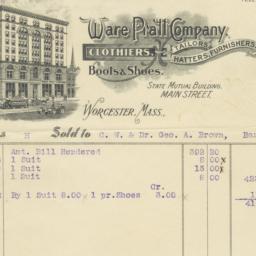 Ware Pratt Company. Bill