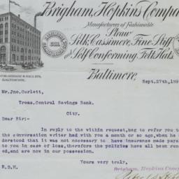 Brigham, Hopkins Company. L...