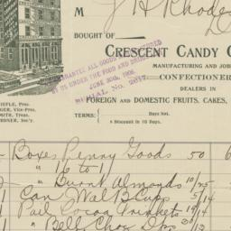Crescent Candy Company. Bill