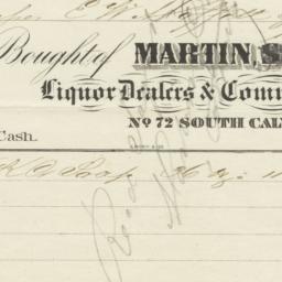 Martin, Spencer & Co.. Bill