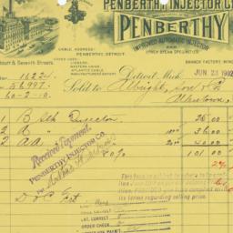 Penberthy Injector Co.. Bill