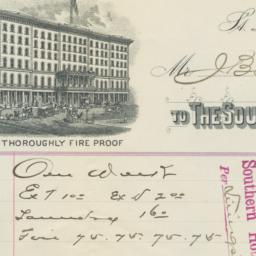 Southern Hotel Company. Bill
