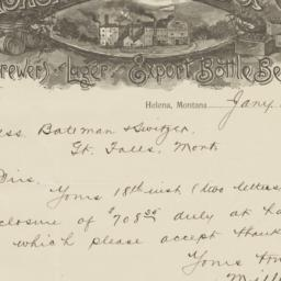 Miller & Co.. Letter