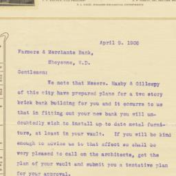 Walker Bros. & Hardy. Letter
