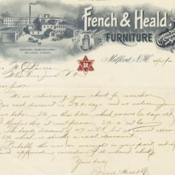 French & Heald Co.. Letter