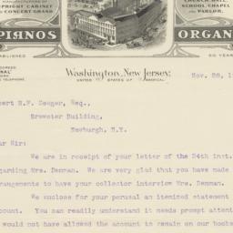 Cornish Co.. Letter
