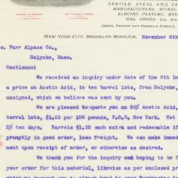 John C. Wiarda & Co.. Letter