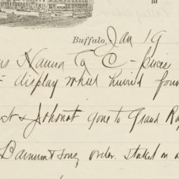 Mansion. Letter