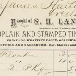S. H. Laney. Bill