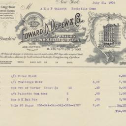 Edward D. Depew & Co.. Bill