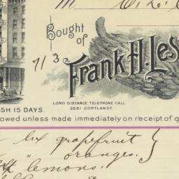 Frank H. Lester. Bill