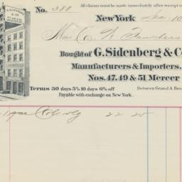 G. Sidenberg & Co.. Bill