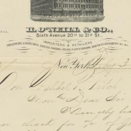H. O'Neill & Co.. Letter