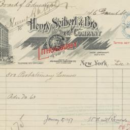 Henry Seibert & Bros.. Bill