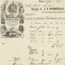 J. F. Bumstead & Co.. Bill