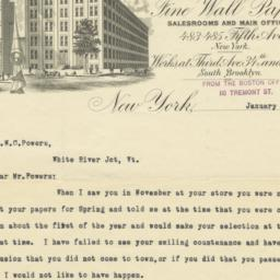 Robert Graves Co.. Letter