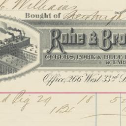 Rohe & Brother. Bill