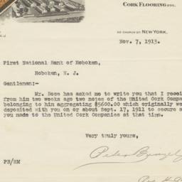United Cork Companies. Letter