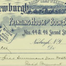 Newburgh Journal. Bill