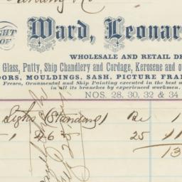 Ward, Leonard & Co.. Bill