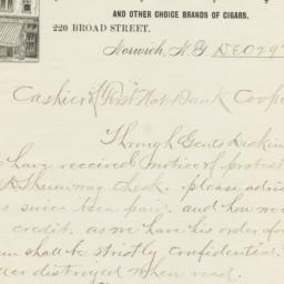 Follett & Schorn. Letter