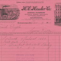 H. E. Hessler Company. Bill