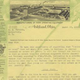F.E. Myers & Bro.. Letter