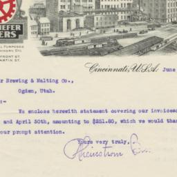 Rheinstrom Bros.. Letter