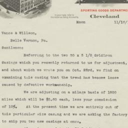 Geo. Worthington Co.. Letter