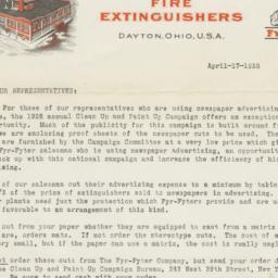 Fyr-Fyter Company. Letter