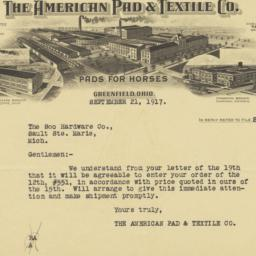 American Pad & Textile Co.....