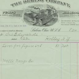 Deming Company. Bill