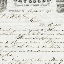 Eaton & Backus. Letter