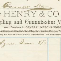 Henry & Co.. Bill