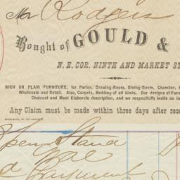 Gould & Co.. Bill