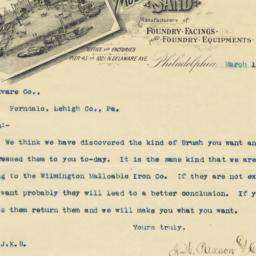 J. W. Paxson & Co.. Letter