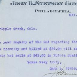 John B. Stetson Hat Company...