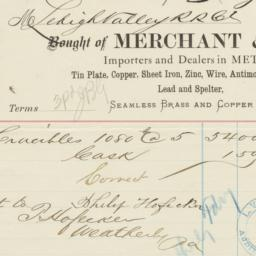 Merchant & Co.. Bill