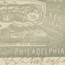 Wetherill & Brother. Envelope