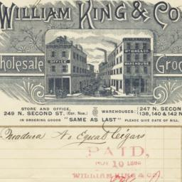 William King & Co.. Bill
