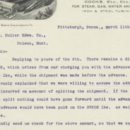 Kelley & Jones Co.. Letter