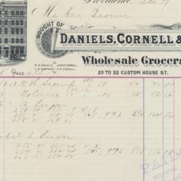 Daniels, Cornell & Co.. Bill