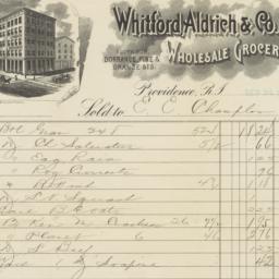 Whitford Aldrich & Co.. Bill