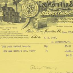 Geo. W. Smith & Son. Bill