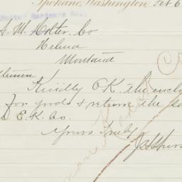 Spokane. Letter