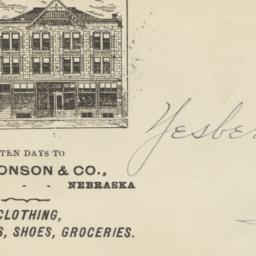 A. O. Monson & Co.. Envelope