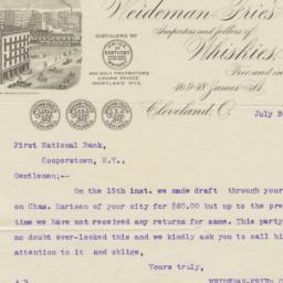 Weideman-Fries Co.. Letter